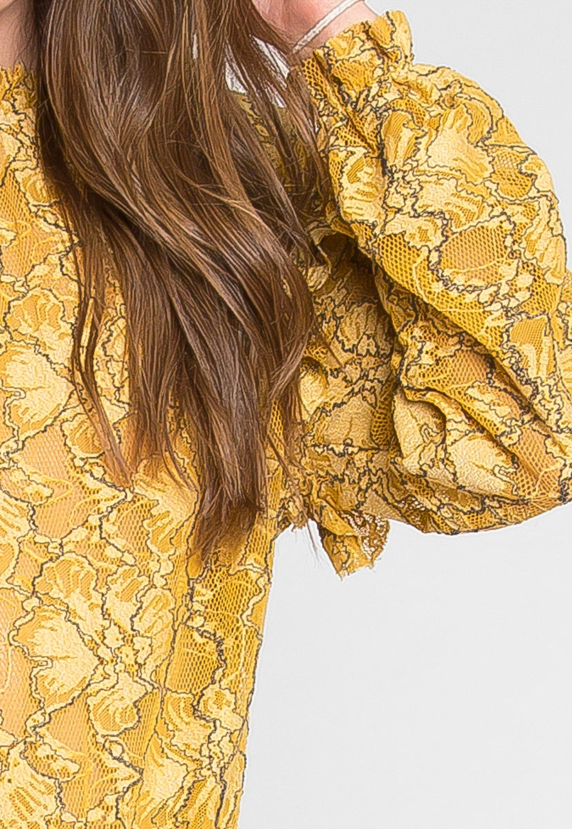 Happy Floral Lace Top - Shirts & Blouses - Wetseal