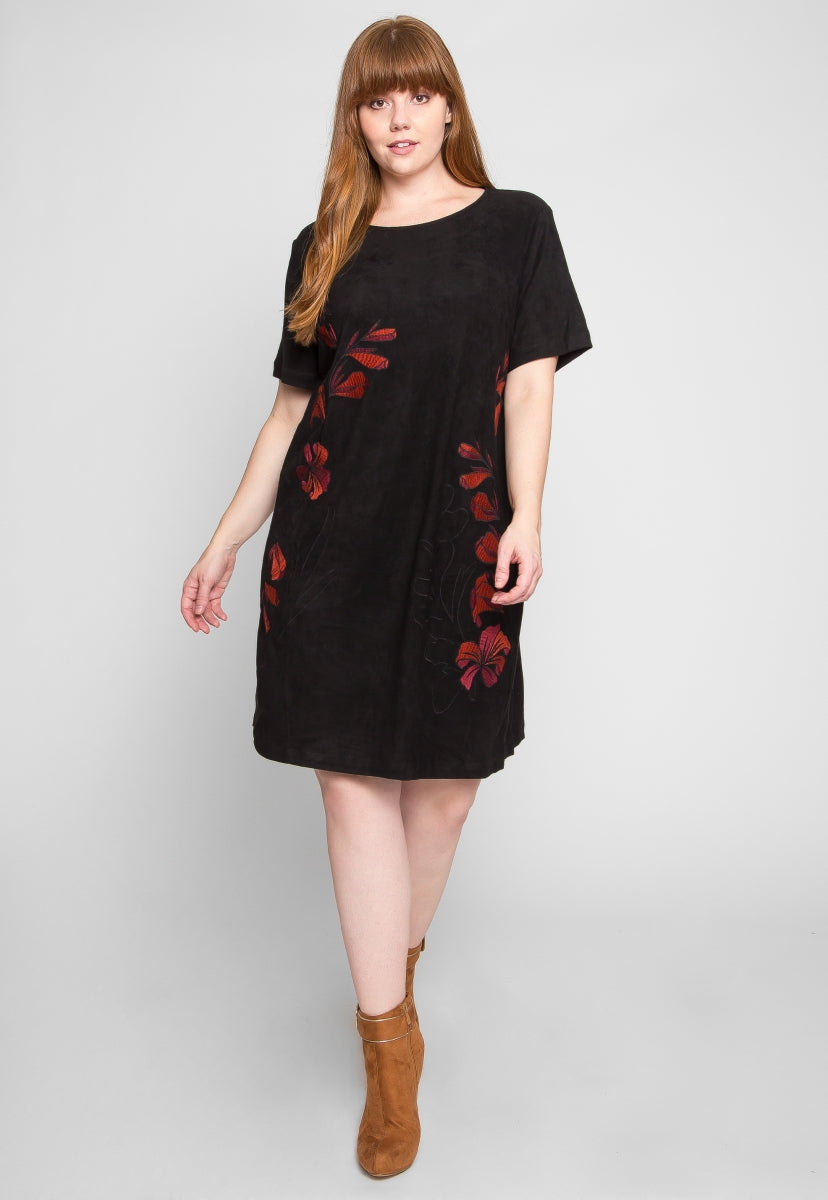 Plus Size My All Embroidered Dress - Plus Dresses - Wetseal