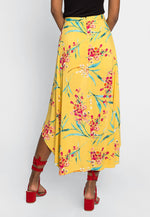 Maxime High Low Maxi Shorts in Yellow