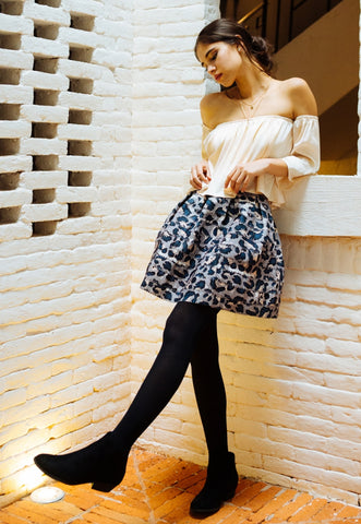 Beverly Leopard Pleated Skirt