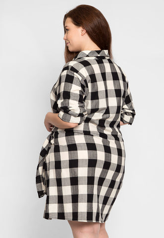 Plus Size Buffalo Plaid Dress