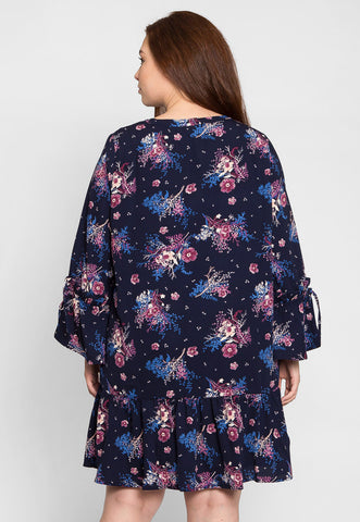 Plus Size Mystic Floral Dress