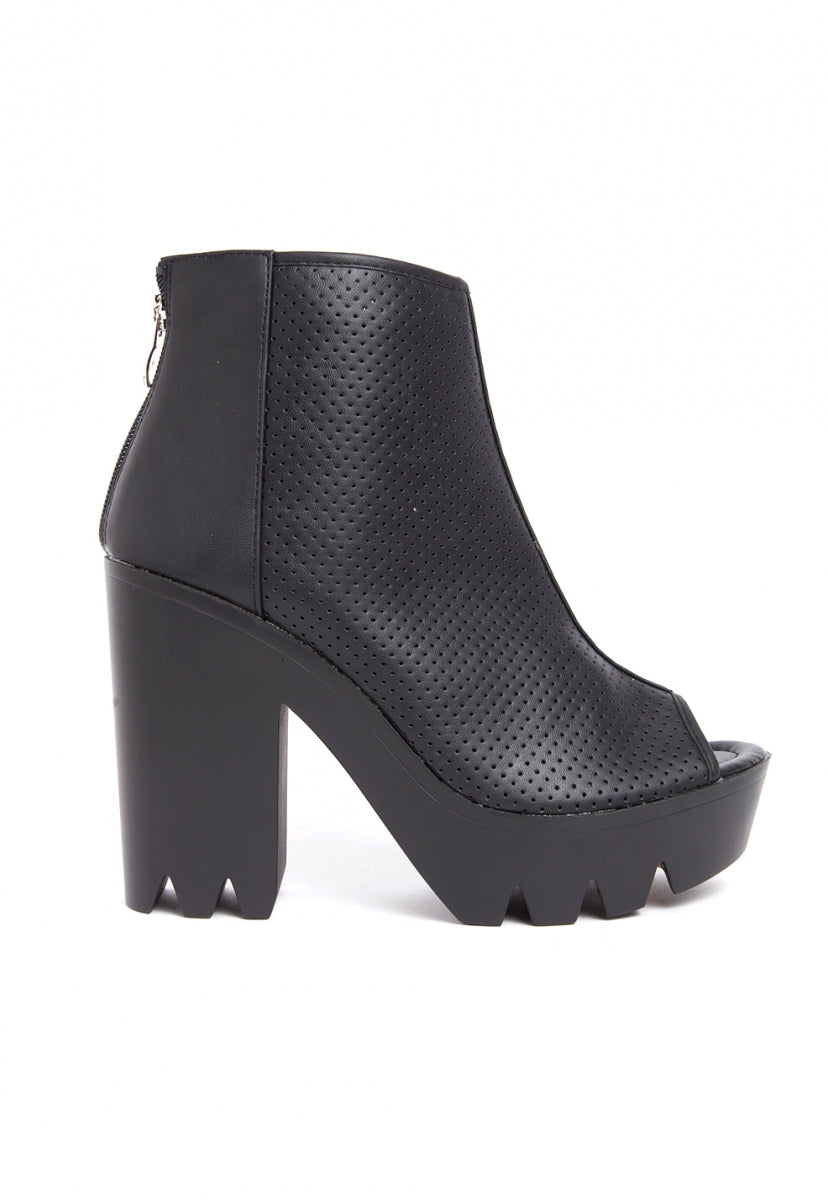 Stereotype Laser Cut Booties - Shoes - Wetseal