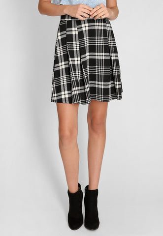 A-Line Mini Skirt in Black