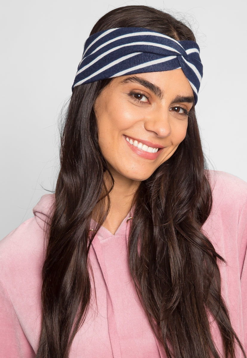 Happiness Striped Headband in White - Hat & Hair - Wetseal