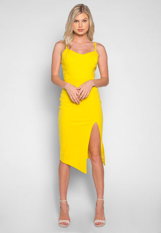 Sunflower Front Split Mini Dress