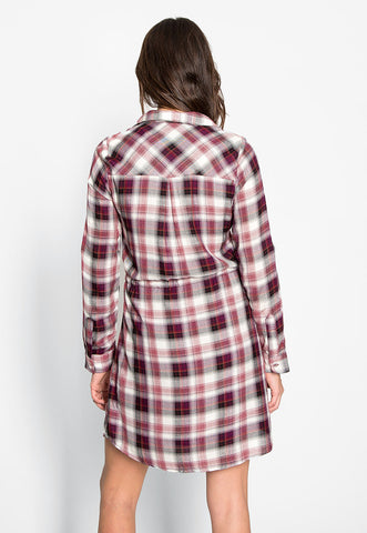 Lauren Plaid Embroidered Shirt Dress