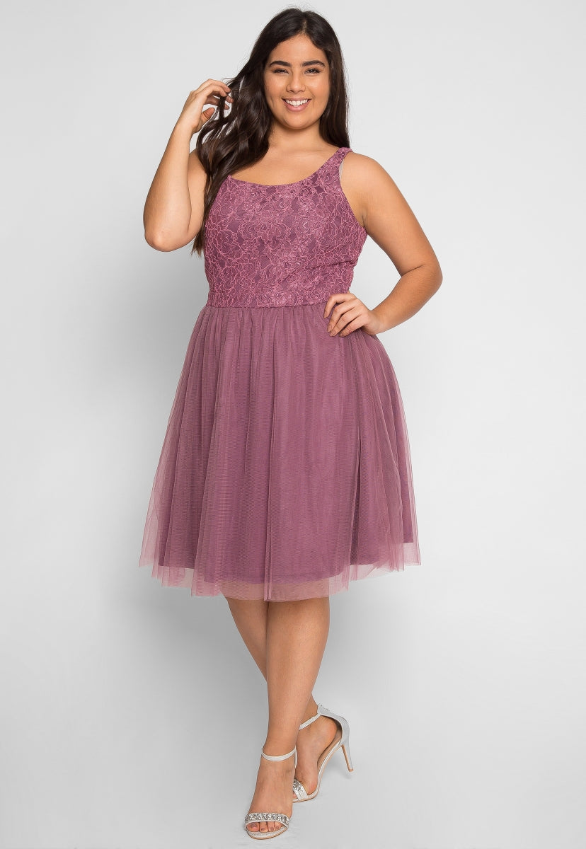 Plus Size Celebrations Party Dress in Lavender - Plus Dresses - Wetseal