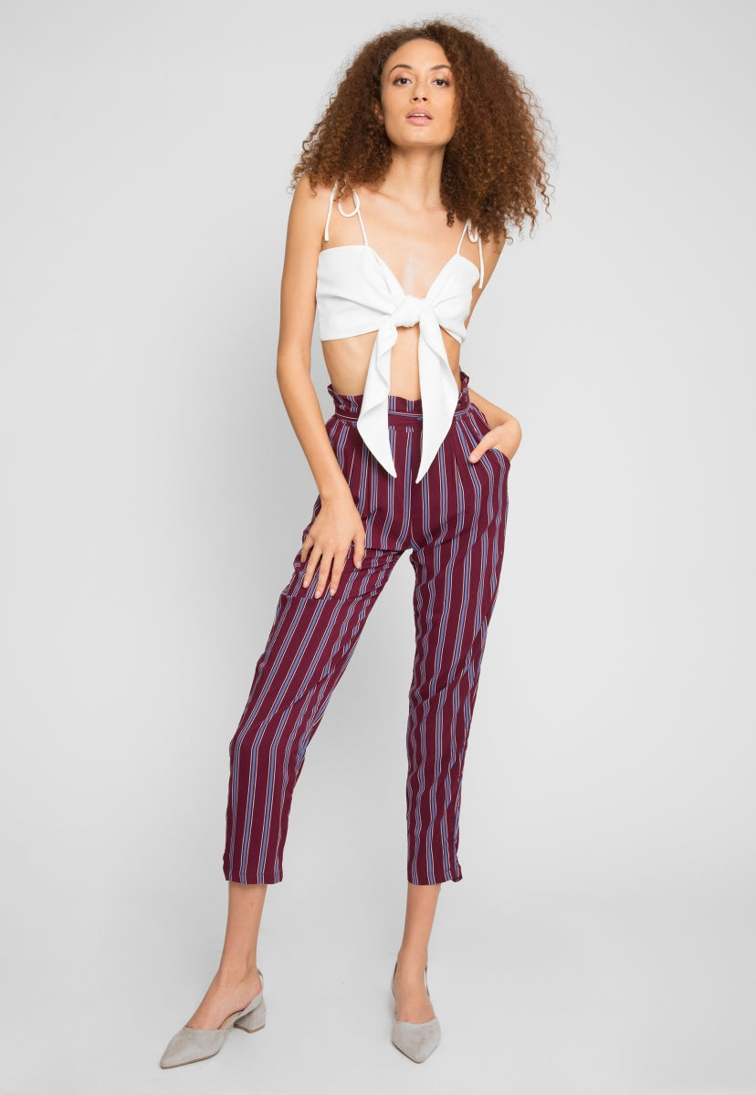 Magic Vertical Stripe Rayon Pants - Pants - Wetseal