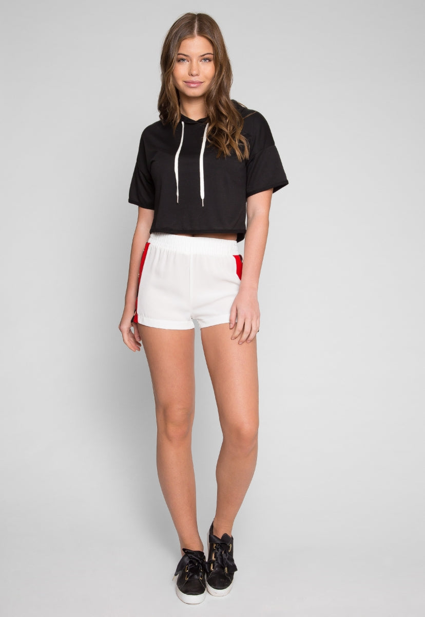 Automatic Side Button Track Shorts - Pants - Wetseal