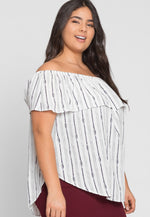 Plus Size Feist Printed Top