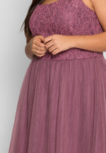 Plus Size Celebrations Party Dress in Lavender