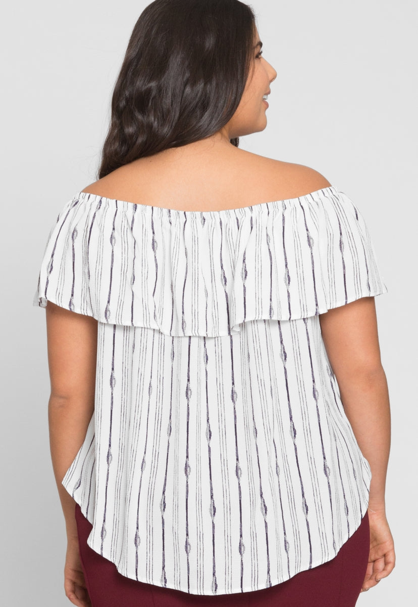 Plus Size Feist Printed Top - Plus Tops - Wetseal