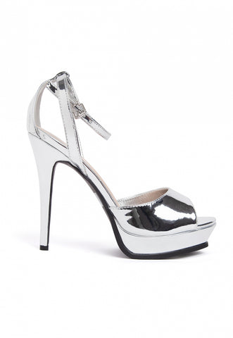 Granted Metallic Ankle Strap Heels