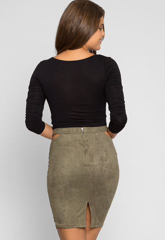 Africa Mini Skirt in Olive