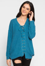 Seal Beach Lace Up Sweater