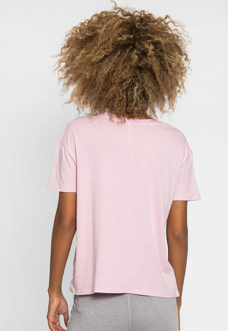 Unity Oversized Tee in Orchid
