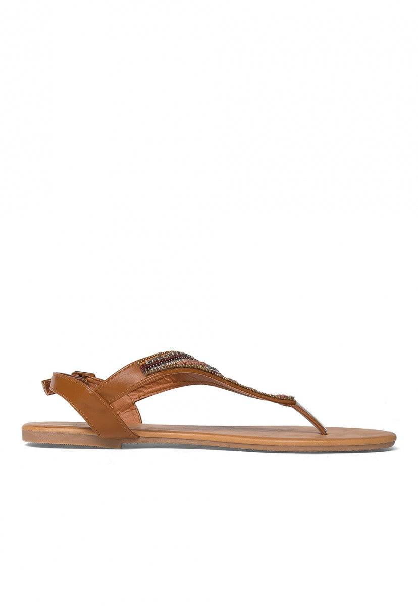 Ember Beaded Thong Sandals - Shoes - Wetseal