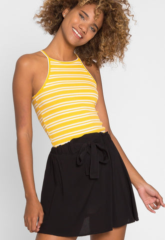 Boardwalk High Waist Skirt in Black