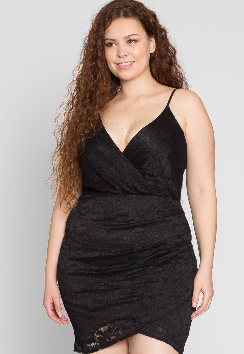 Plus Size Grace Lace Bodycon Dress