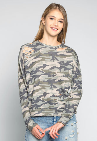 Far From Home Camo Sweatshirt