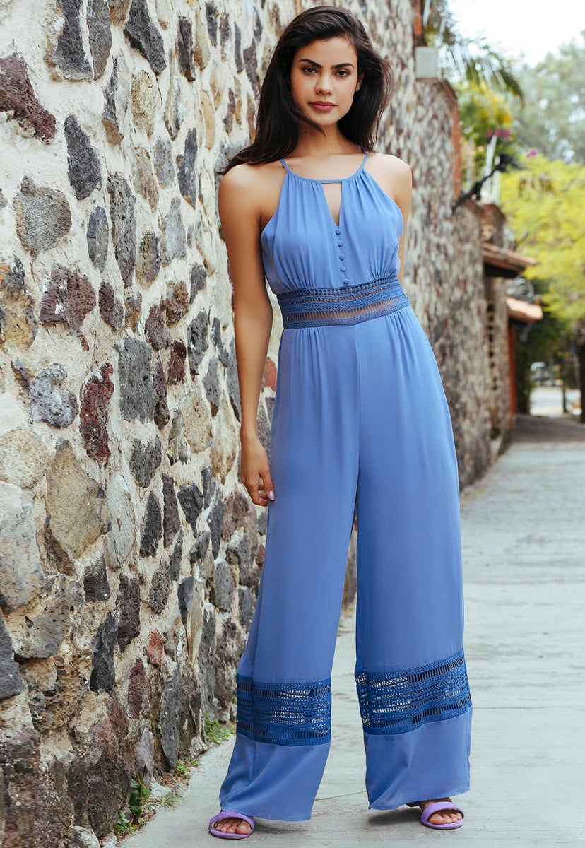 The Disco Halter Jumpsuit - Rompers & Jumpsuits - Wetseal