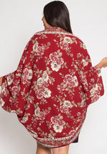 Plus Size Tapestry Cocoon Kimmono