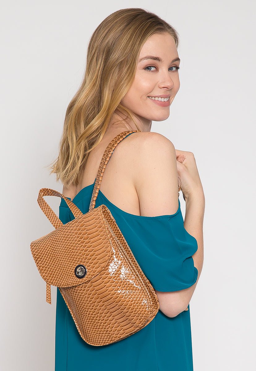 Textured Mini Backpack - Bags - Wetseal
