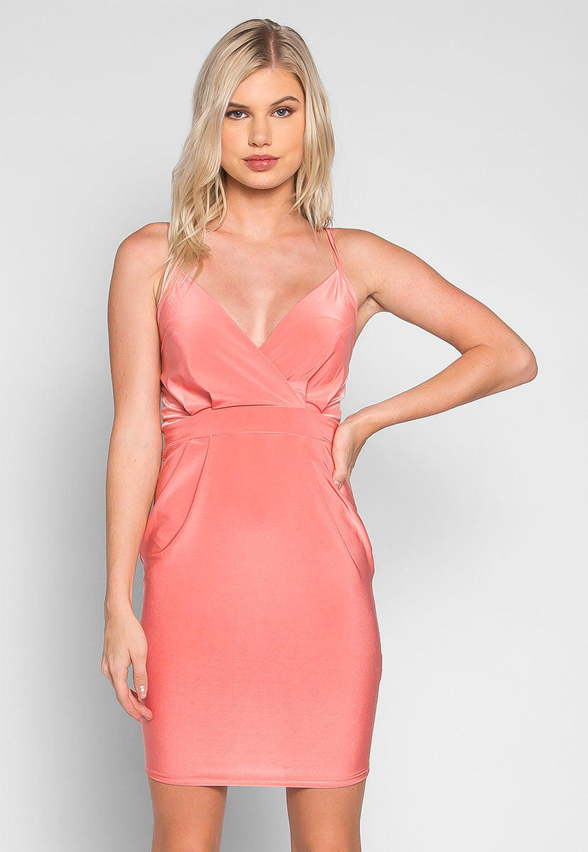 Coquette Surplice Sleeveless Dress - Dresses - Wetseal