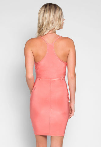 Coquette Surplice Sleeveless Dress