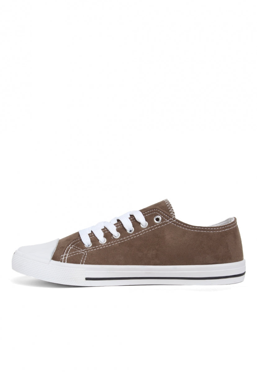 Olive Suede Sneakers - Shoes - Wetseal