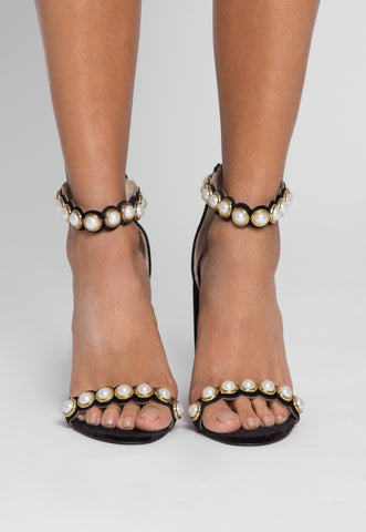 Sweet Child Pearl Strap Heels