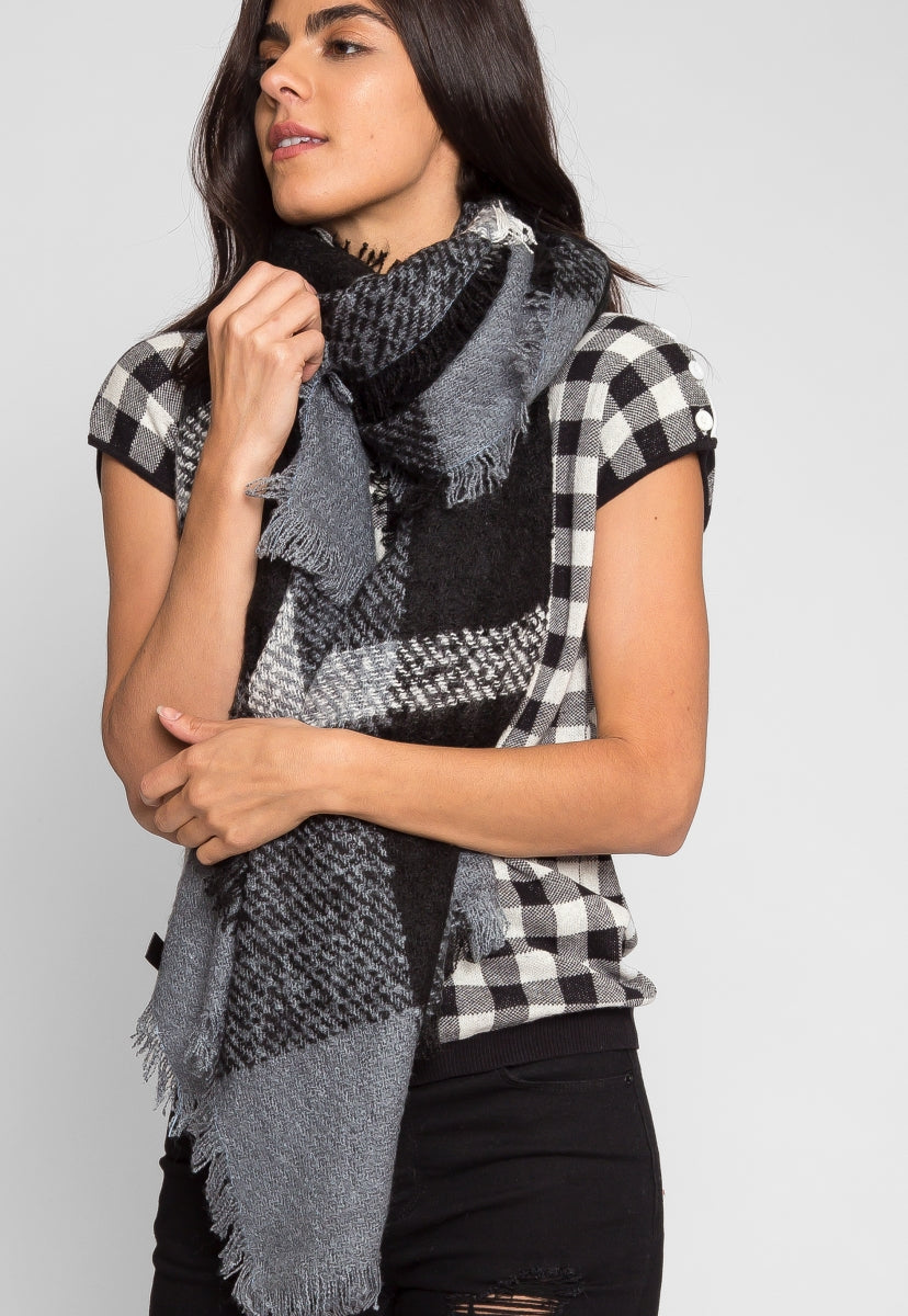 Holiday Plaid Blanket Scarf - Scarves & Gloves - Wetseal