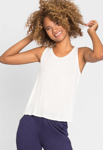 Soft Knit Tank Top in White