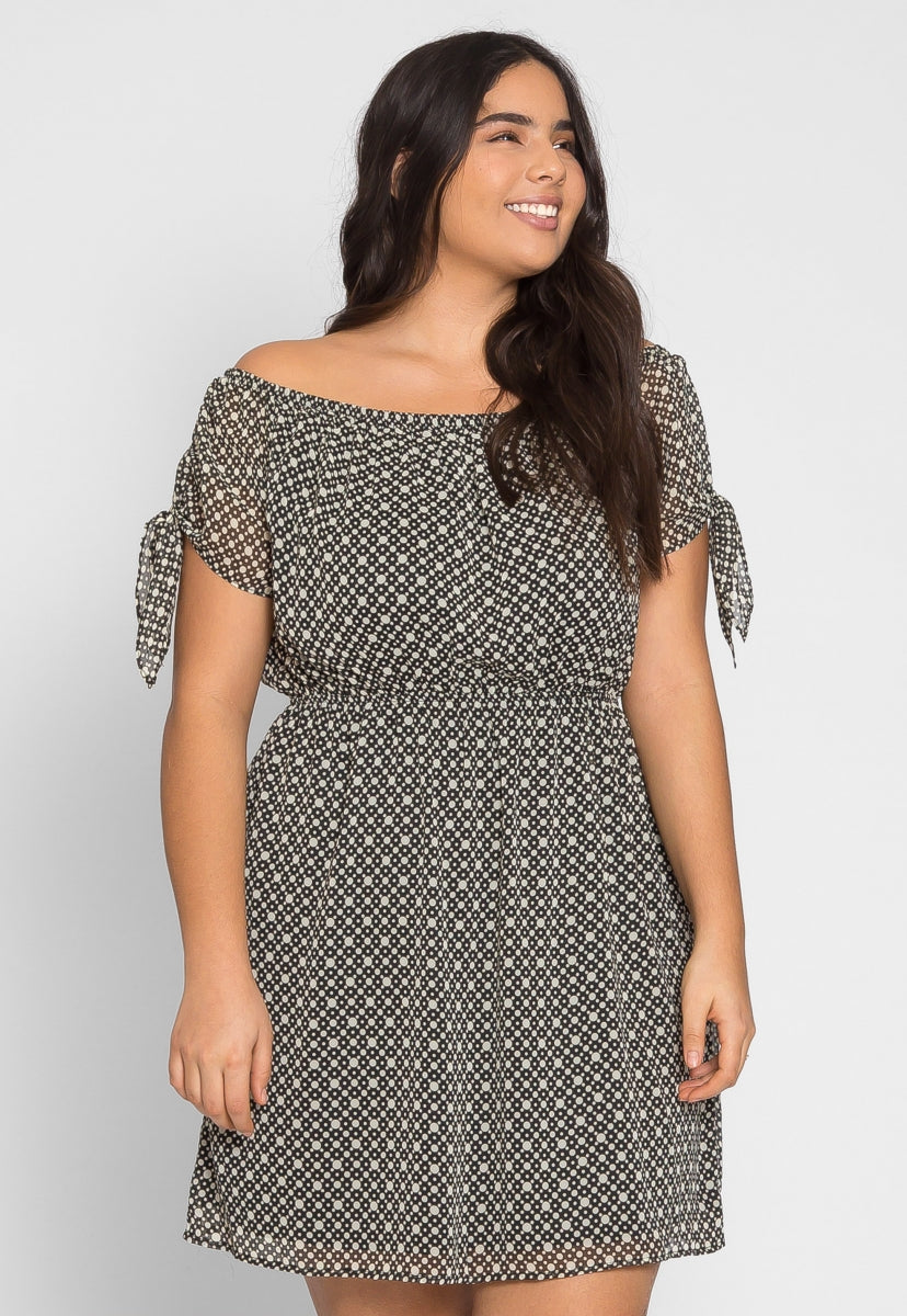 Plus Size Springfield Polka Dot Chiffon Dress