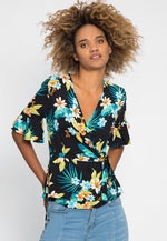 Polly Tropic Floral Wrap Dress