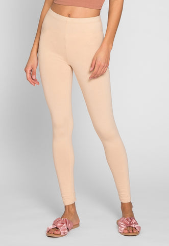 Janis Cotton Leggings in Sand