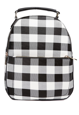 Gingham Mini Backpack