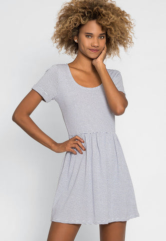 Maddie Stripe Flare Dress