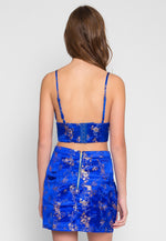 Brocade Two Piece Set in Blue