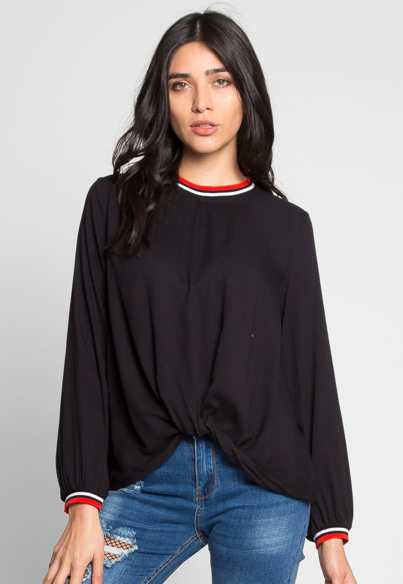 Winchester Jersey Knit Top - Shirts & Blouses - Wetseal