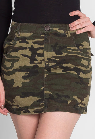 Blending In Camo Mini Skirt