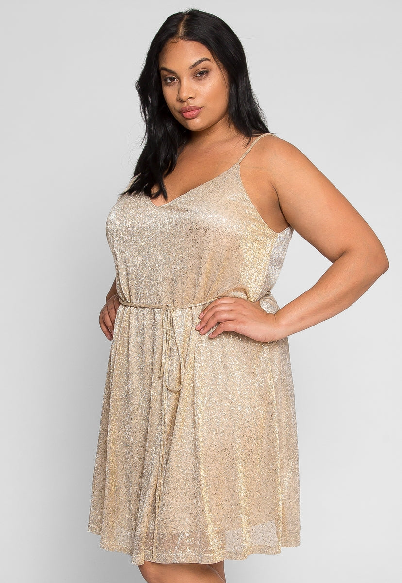 Plus Size Party Shiny Dress