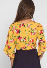 Fresh Mist Floral Blouse in Yellow