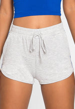 Hills Side Tape Knit Shorts in Gray
