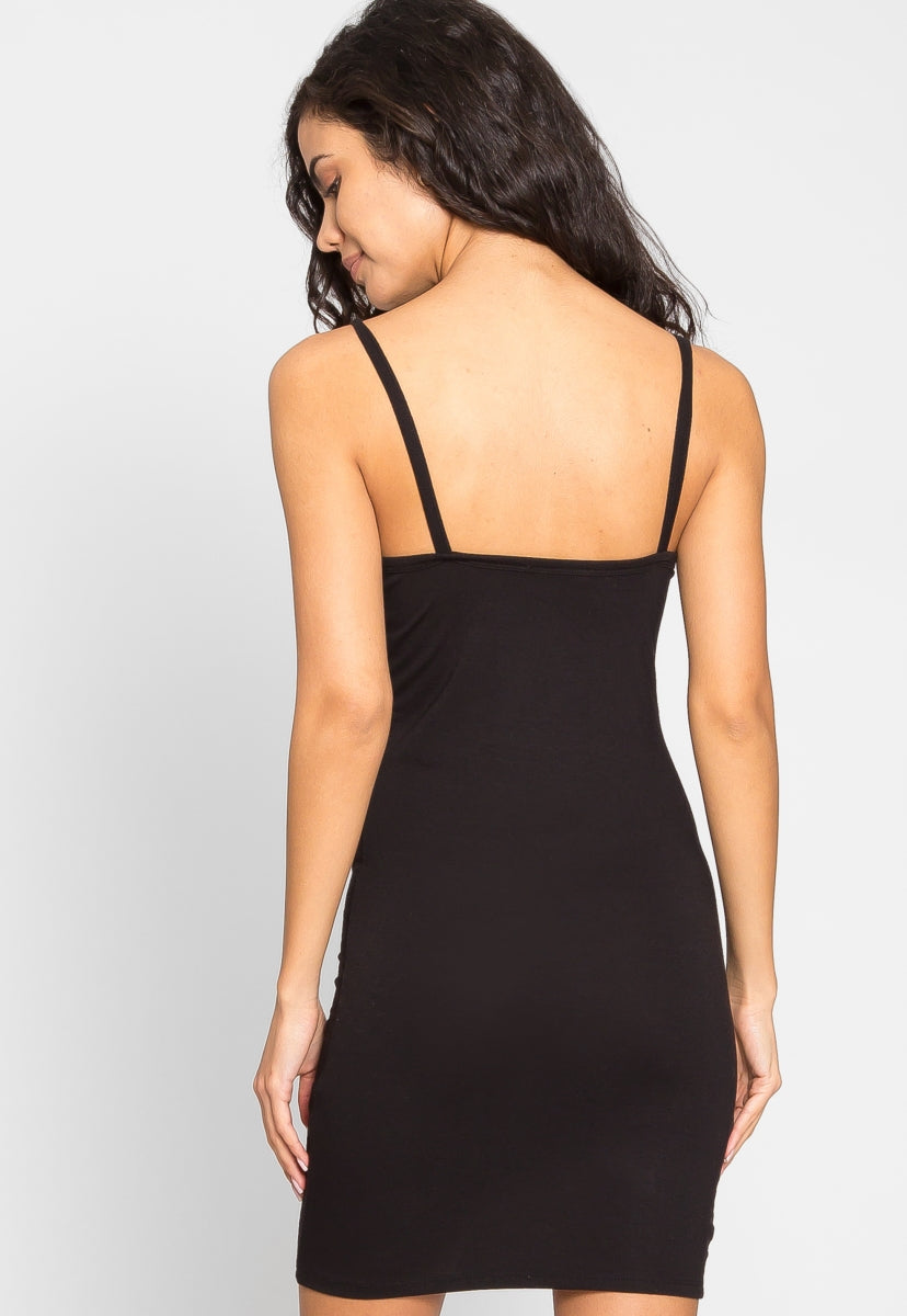 Day Out Knit Bodycon Dress in Black - Dresses - Wetseal