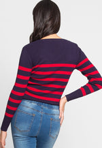 All Aboard Stripe Sweater in Navy