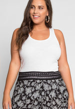 Plus Size Racerback Tank Top in White
