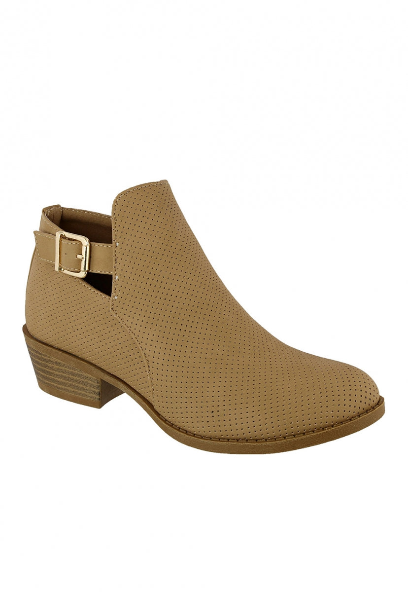 Western End Perforated Booties - Shoes - Wetseal