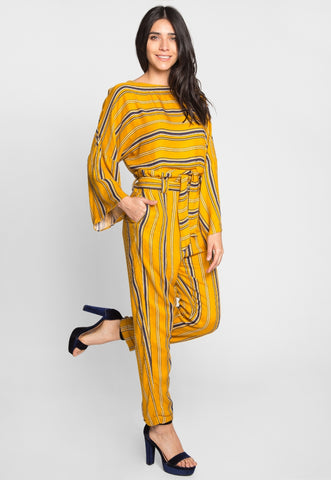 Sunset Cruise Stripe Set in Yellow